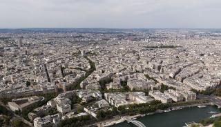Grand Paris - Vue du nord de Paris, depuis la tour Eiffel.• Crédits : William Crochot / Wikimedia Commons