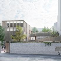© L.Zacchi/ Ecole maternelle 13 rue Jeanne d'Arc - Maître d'œuvre : LA Architectures / Corentin Desmichelle Maître d'ouvrage : SEMAPA